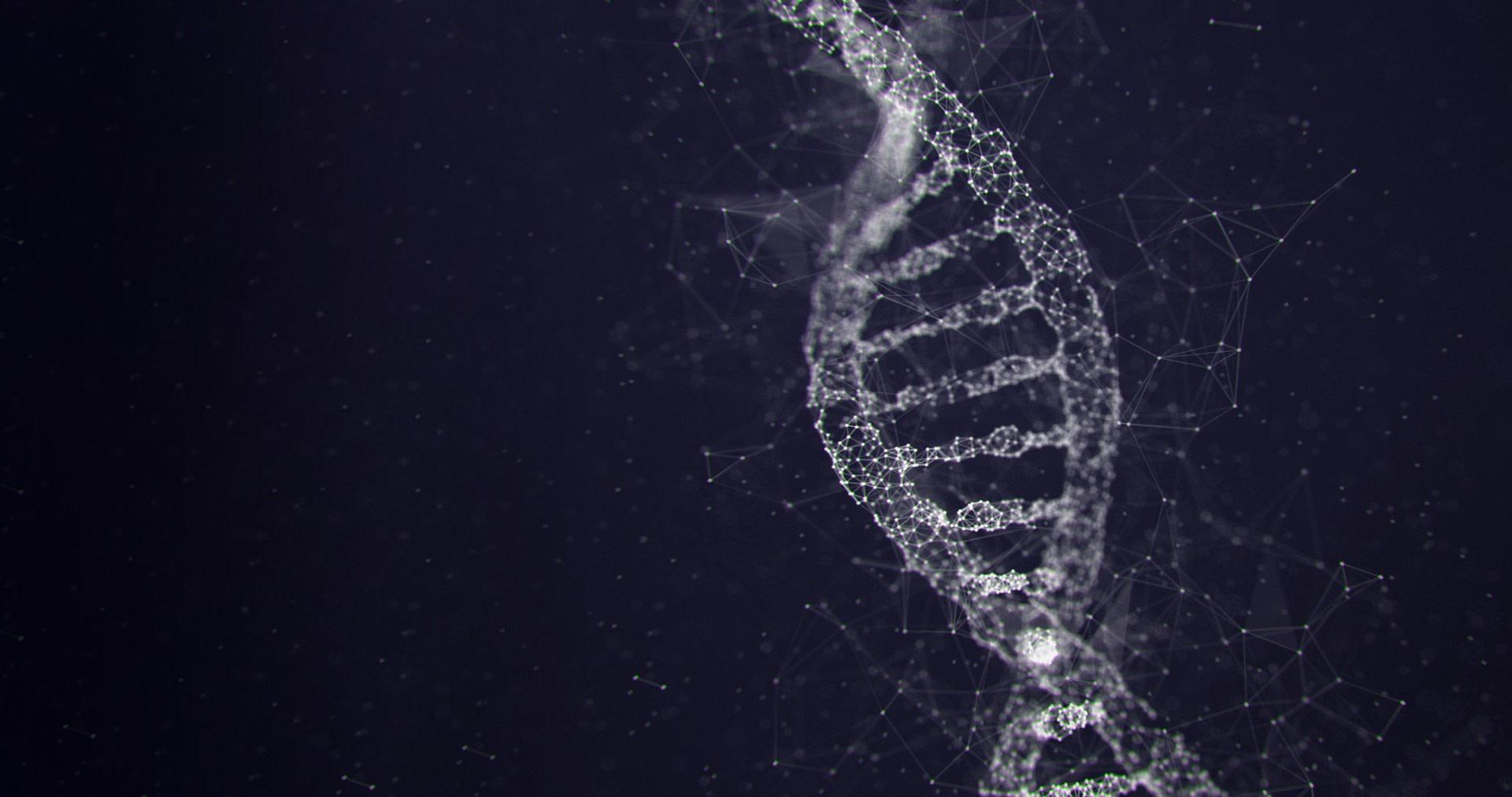 Fond d'écran de l'ADN qui représente l'essence d'un film